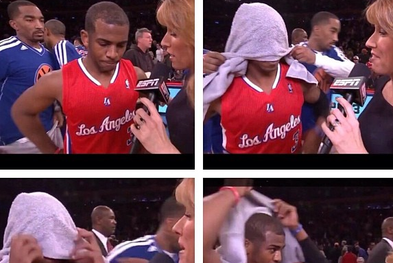 Instagram: J.R. Punks CP3 During Interview