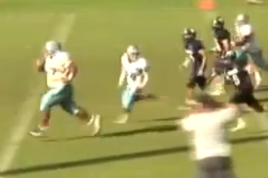 This 350LB High School Running Back Can Run