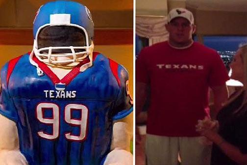 Texans Fan Makes a Wedding Cake of J.J. Watt, Then Meets Him