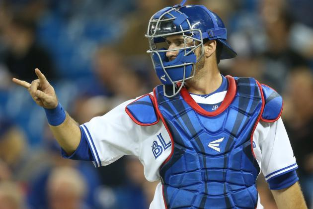 Blue Jays Catcher Arencibia Says He Wants to Catch Dickey