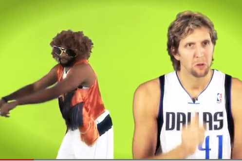 Video: Dirk and the Mavs Get Their 'Harlem Shake' on