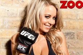 Carly Baker, UFC's New Ring Girl, Featured in 'ZOO' Magazine the Lingerie Issue
