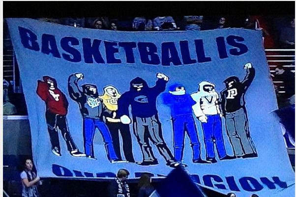 Georgetown Banner: 'Basketball Is Our Religion'