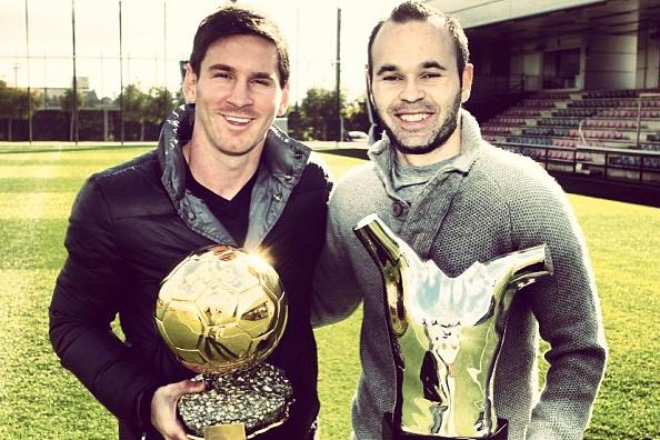 Instagram: Messi, Iniesta Show off Awards