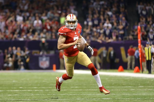 Colin Kaepernick: Realistic Expectations for 49ers QB's First Full Season