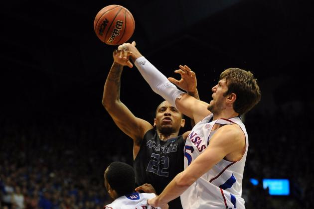 Jeff Withey Sets KU Blocks Record; Assistants Take over Film Session Sunday