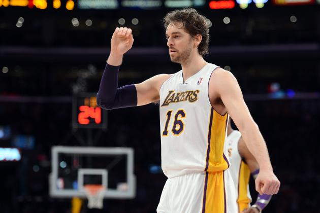 Pau Gasol Will Be Most Important Piece of LA Lakers' Roster Down the Stretch