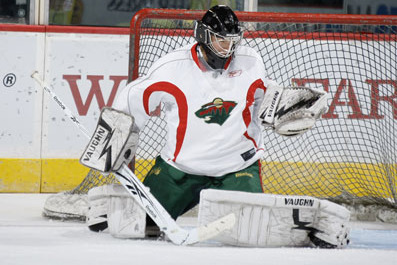 Darcy Keumper Called Up from Houston to Replace Ailing Wild Goalie Josh Harding