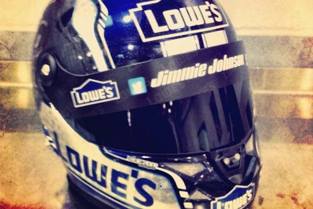 Instagram: Jimmie Johnson Shows off His Lowes Mask