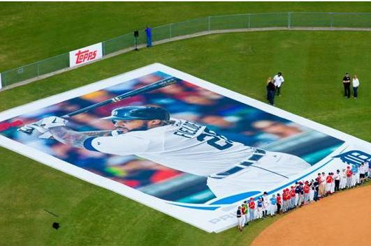 Topps Portrays Prince Fielder on World's Largest Baseball Card