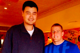 J.J. Watt Tweets Picture with Yao Ming