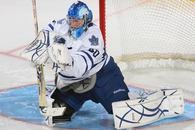 Maple Leafs Goalie James Reimer Out at Least a Week with Knee Injury