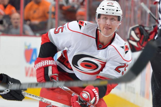 Canes' Pitkanen Leaves Game with Lower-Body Injury