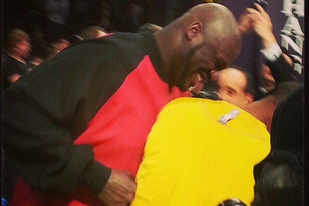 Instagram: Shaq and Kobe Share Laugh Before Lakers Game