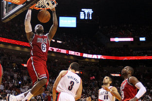 LeBron James Sets Record in Miami Heat's Win over Trail Blazers