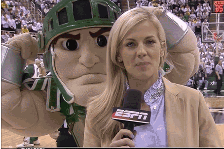Samantha Ponder Was Photobombed by Sparty