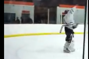 VIDEO: High School Goalie Scores on Own Team, Flips off Bench