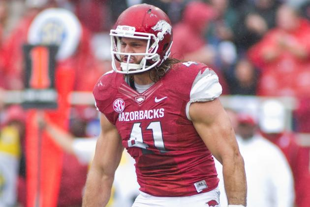 Arkansas DE Austin Flynn Arrested on 4 Charges Including DWI