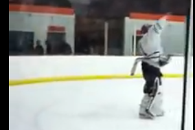 Pissed-off High School Goalie Scores on Himself