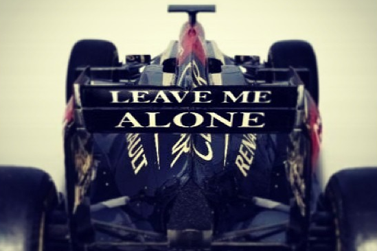 Instagram: Lotus Sporting 'Leave Me Alone' Message