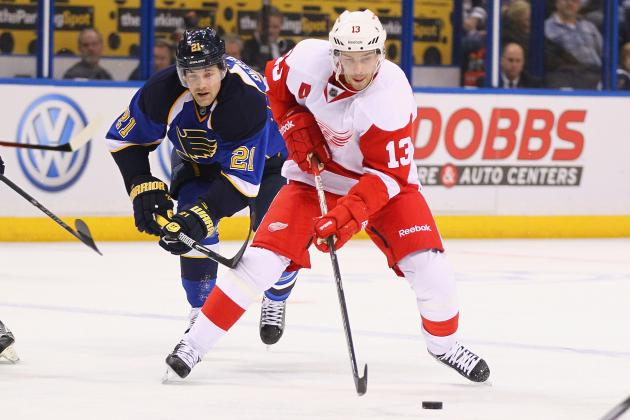 Blues-Red Wings Preview