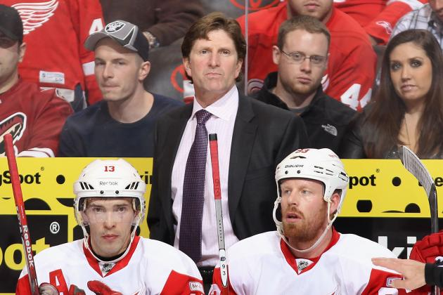 Mike Babcock Strives for Better Puck Movement with Developing Wings