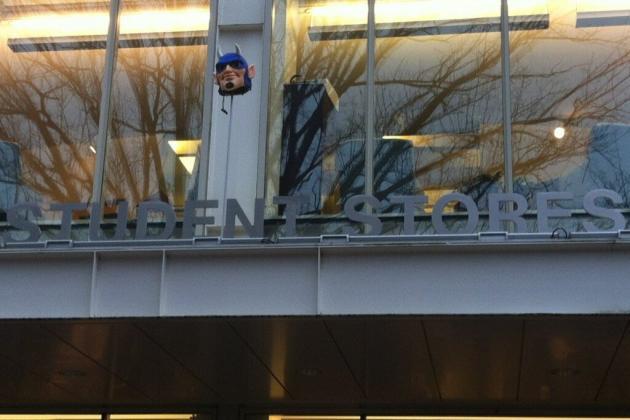 PHOTO: Duke Mascot Head Surfaces at North Carolina