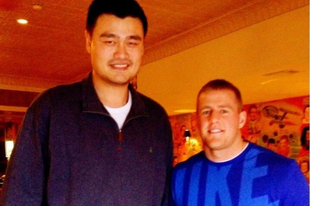 JJ Watt Is Just Some Adorable Little Guy Next to Yao Ming