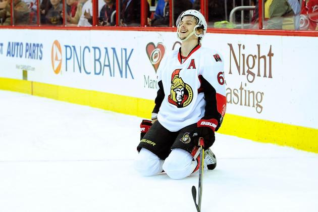 Uh Oh: Sens' Karlsson Needs Help off Ice