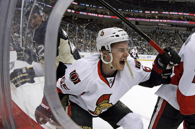 Senators' Karlsson Out Indefinitely After Suffering Skate Cut in Collision