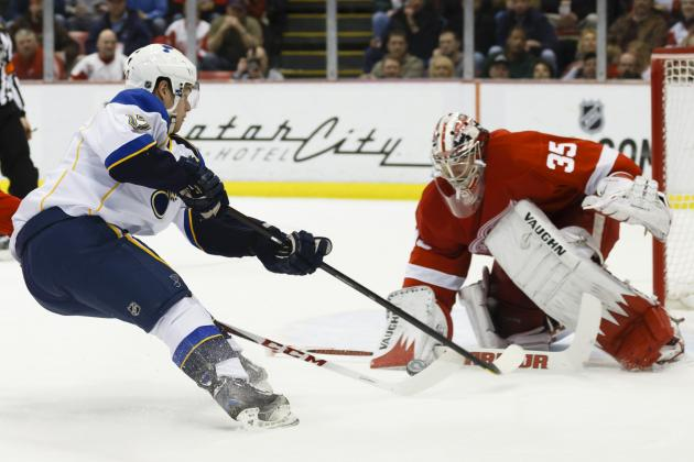 Blues Snap 5-Game Losing Skid, Beat Wings
