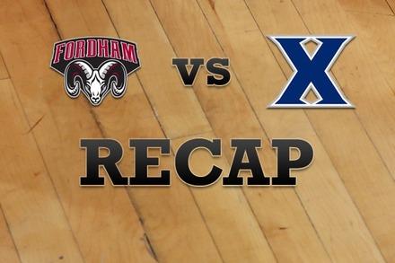 Fordham vs. Xavier: Recap, Stats, and Box Score