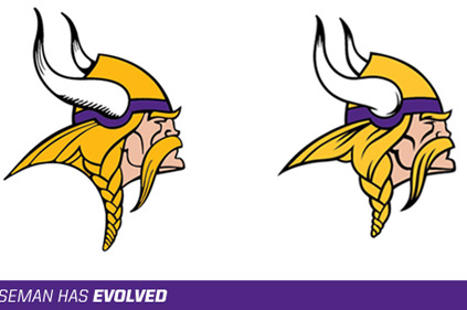 Vikings Enhance Norseman Logo