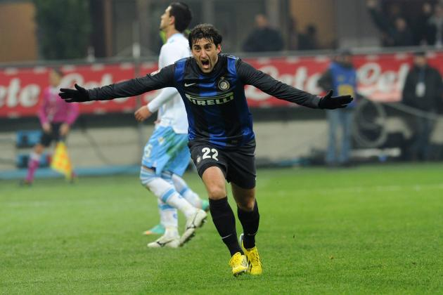 Inter Milan Star Diego Milito out for Season with Knee Injury
