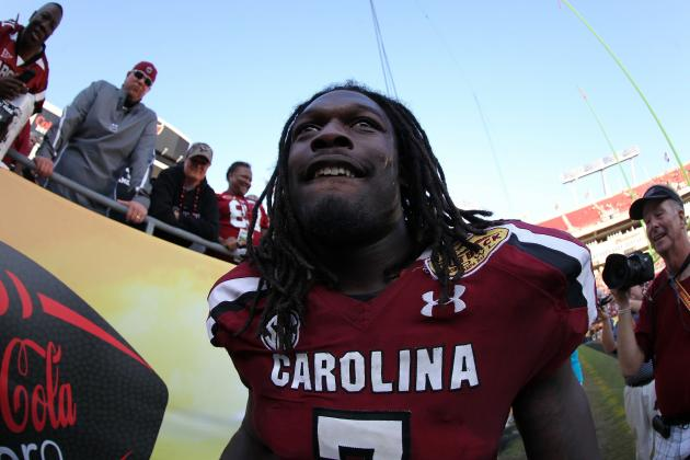 Spurrier: Clowney Won't Quit on South Carolina