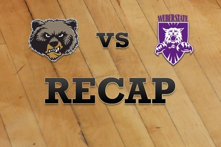 Montana vs. Weber State: Recap, Stats, and Box Score