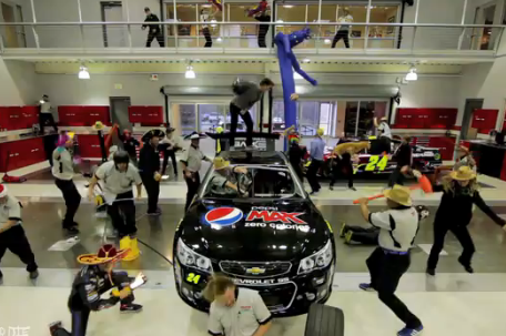 Jeff Gordon Shows off His Moves in Harlem Shake Video