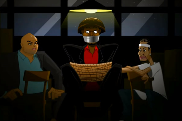 Barkley and Iverson Kidnap Andrew Bynum in Funny Animated Sketch