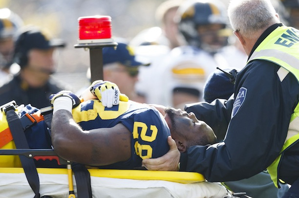 Michigan RB Fitz Toussaint (Leg) Says He Will Run in Spring Practice