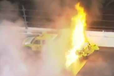 Montoya Wants to Forget Jet Dryer Collision, Explosion in 2012 Race