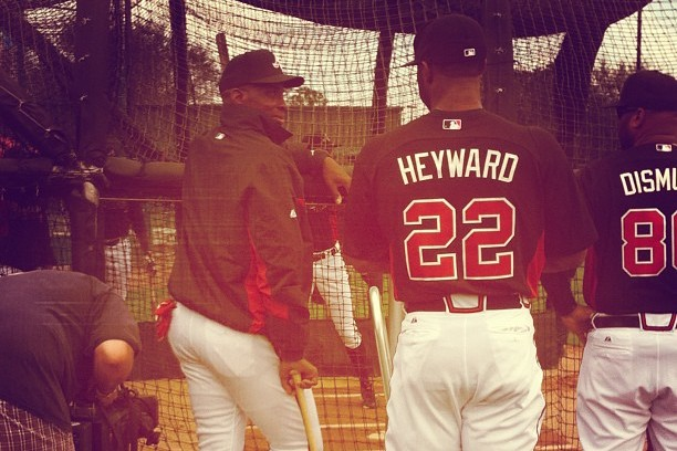 Instagram: Heyward Chatting with Fred McGriff