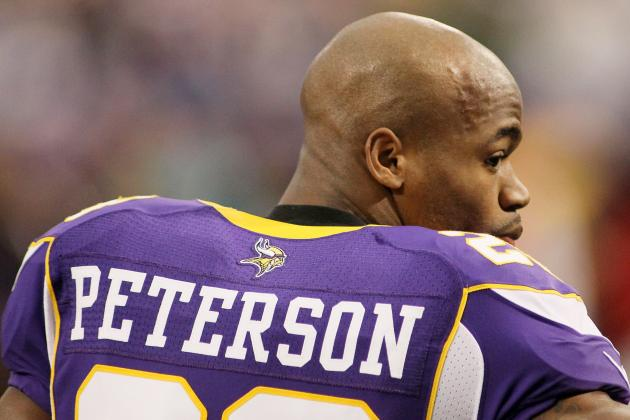 Adrian Peterson's Vikings Uniform Beats Him to Hall of Fame