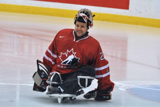 Benoit St. Amand Solid Between the Pipes for Canadian Sledge Hockey Team