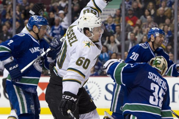 Stars Rally in Third to End Canucks' Win Streak