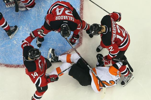 Flyers Let Two-Goal Lead Slip Away in Loss to Devils