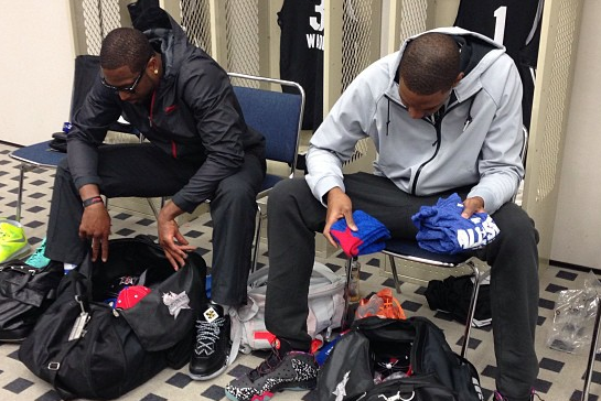 Bosh and Wade Get Dressed for All-Star Game Practice