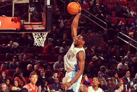 Kenneth Faried Dunks During Rising Stars Game