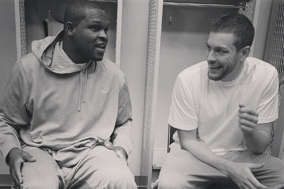 Griz's Randolph and Dubs' Lee Share Laugh