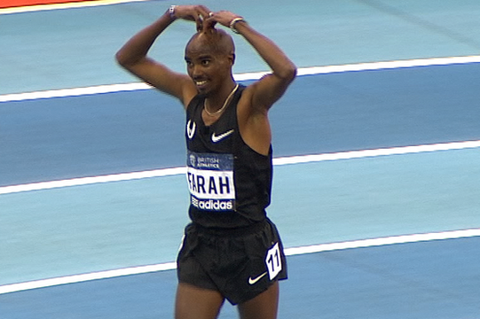 Farah Wins 3,000M on 2013 Debut