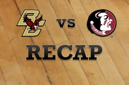 Boston College vs. Florida State: Recap, Stats, and Box Score